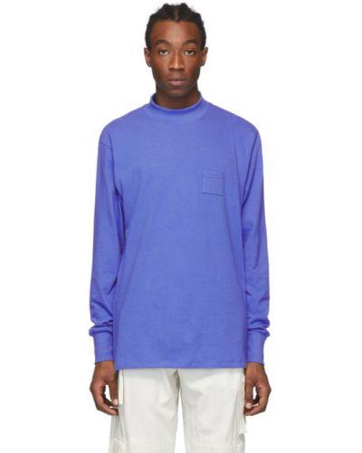 Niebieski t-shirt z długimi rękawami bawełniany Aime Leon Dore