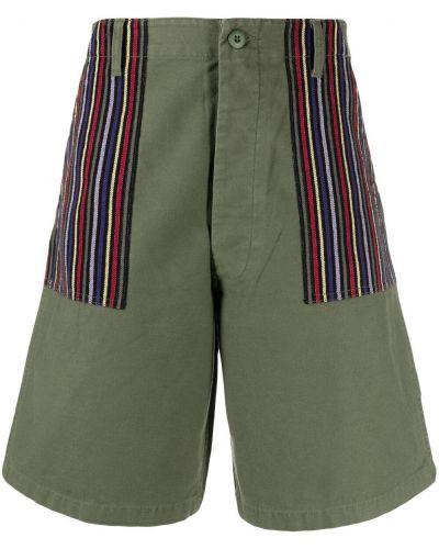 Хлопковые шорты в полоску с карманами Maharishi