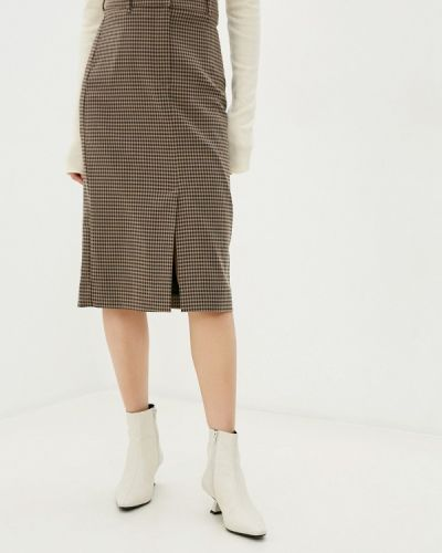 Коричневая прямая юбка карандаш Marks & Spencer