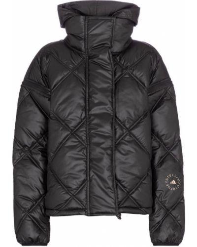 Черная стеганая куртка Adidas By Stella Mccartney