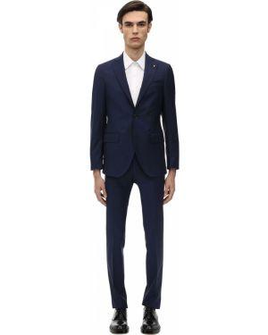 Niebieski garnitur wełniany Sartoria Latorre