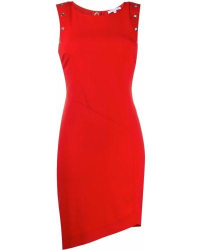 Красное облегающее асимметричное облегающее платье без рукавов Patrizia Pepe