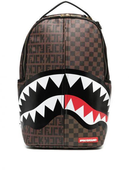 Асимметричный коричневый рюкзак на молнии Sprayground