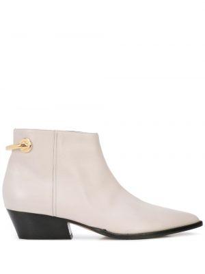 Ботинки на каблуке золотой Tibi