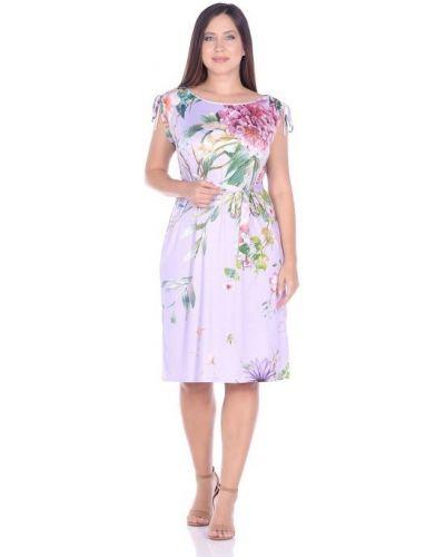 Прямое трикотажное платье миди с поясом Blagof