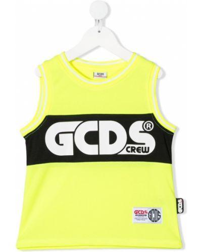 Żółta kamizelka bez rękawów z printem Gcds Kids