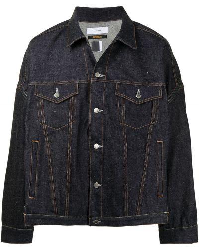 Niebieskie jeansy zapinane na guziki bawełniane Facetasm