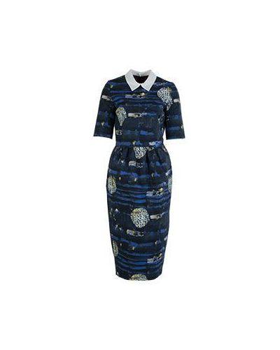 Синее платье casual Stella Jean
