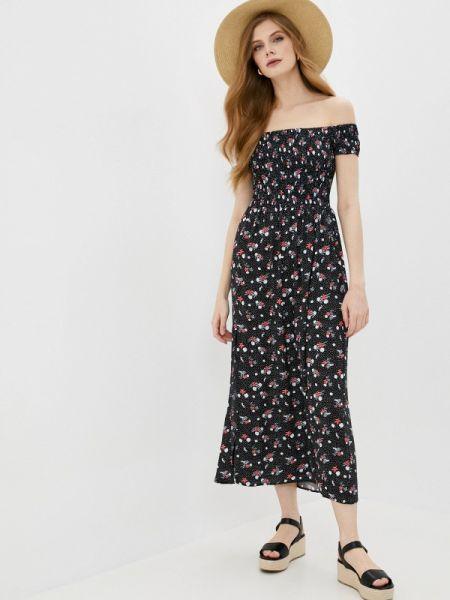 Платье с открытыми плечами черное Befree