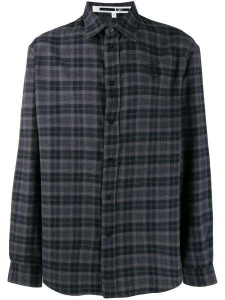 Koszula w kratę - czarna Mcq Alexander Mcqueen
