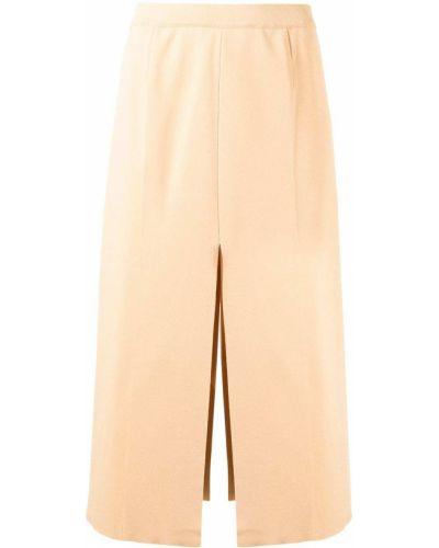 Brązowa spódnica z wiskozy Mrz