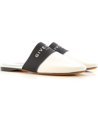 Skórzany biały skórzany sandały okrągły Givenchy