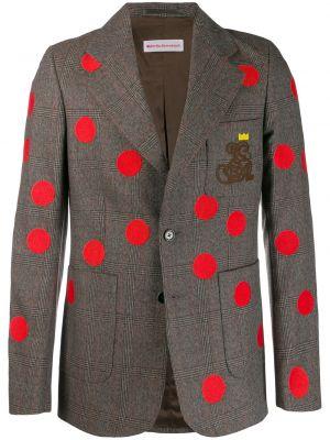Коричневый классический пиджак на пуговицах с манжетами с карманами Walter Van Beirendonck Pre-owned