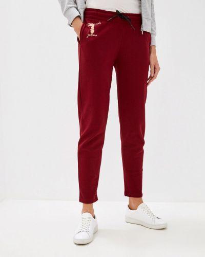 Спортивные брюки бордовый красный Trussardi Jeans