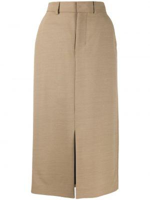 Шерстяная юбка миди Ami Paris