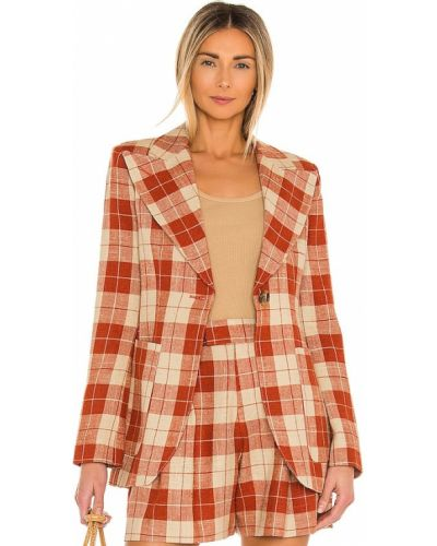 Пиджак твидовый с заплатками с накладными карманами Smythe