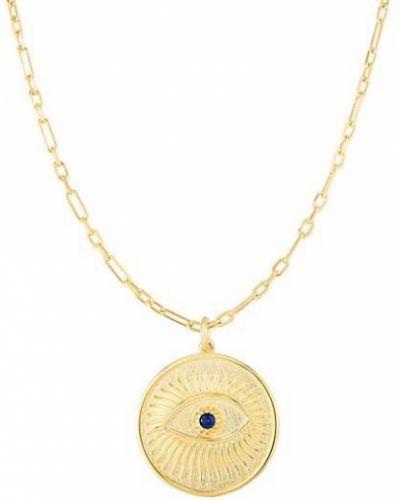 Żółty złoty medalion z cyrkoniami Chloe & Madison
