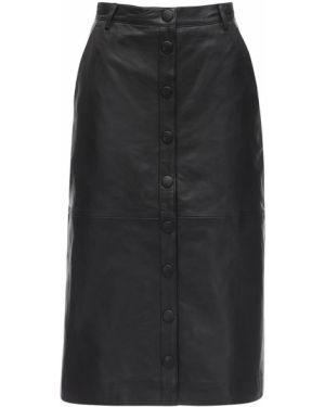 Кожаная юбка с карманами на пуговицах Remain