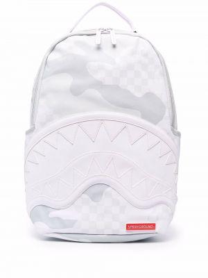 Рюкзак в клетку - белый Sprayground