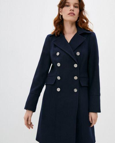 Синее пальто двубортное Wallis