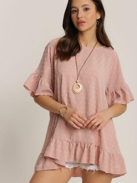Różowa tunika materiałowa Renee
