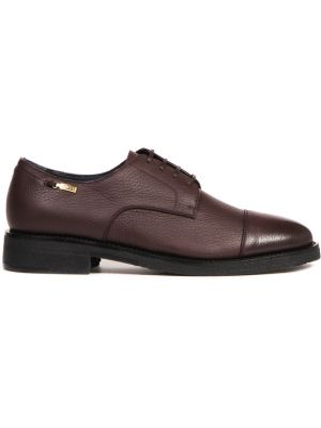 Кожаные красные туфли на шнуровке на каблуке с декоративной отделкой Zilli