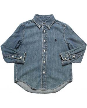 Рубашка с вышивкой с логотипом Ralph Lauren