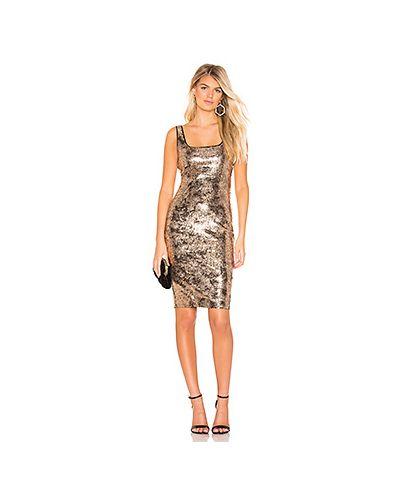 Платье с пайетками с завышенной талией Bardot