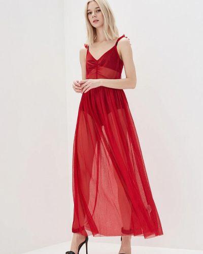 Красное коктейльное платье Guess Jeans