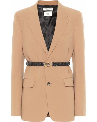 Однобортный пиджак из габардина Bottega Veneta