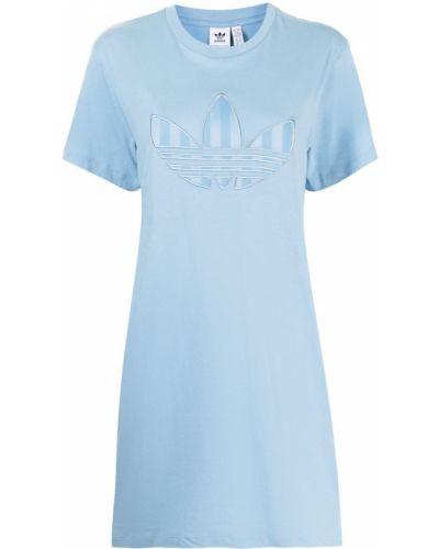 Платье мини короткое - синее Adidas