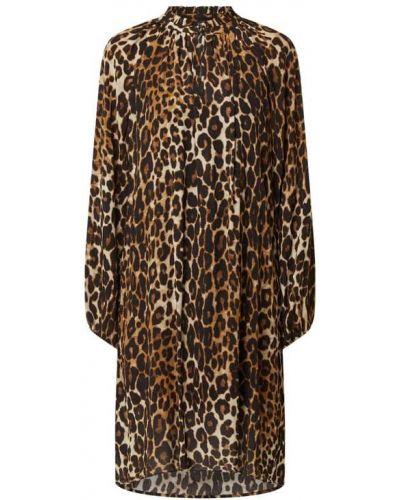 Brązowa sukienka z printem Risy & Jerfs