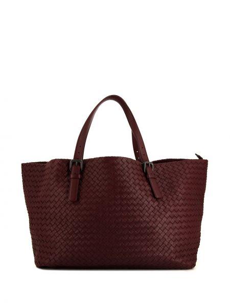 Кожаная красная сумка-тоут с пряжкой Bottega Veneta Pre-owned