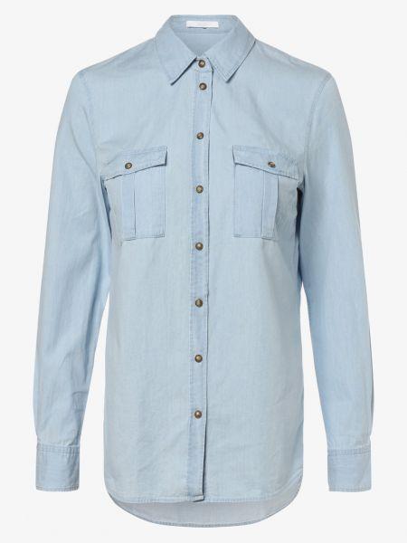 Niebieska koszula jeansowa casual Boss