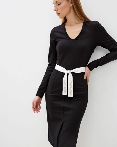 Вечернее платье осеннее черное Silvian Heach