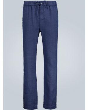 Niebieskie spodnie bawełniane zapinane na guziki Frescobol Carioca