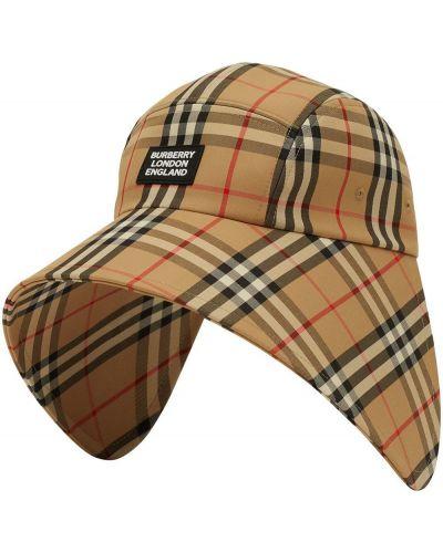 Хлопковая кепка винтажная с нашивками Burberry