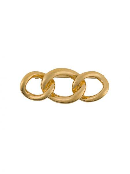 Broszka na łańcuchu ze złota Christian Dior