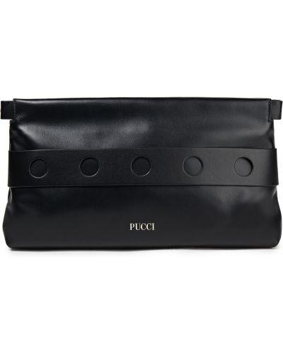 Złota kopertówka - czarna Emilio Pucci