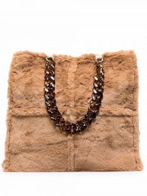 Brązowa torebka na łańcuszku La Milanesa