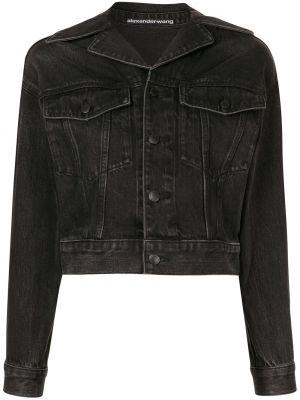 Хлопковая джинсовая куртка - черная Alexander Wang
