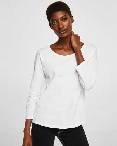 Белая блузка прямая Mango