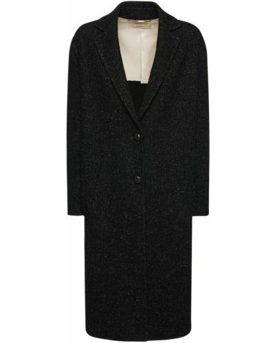Черное кашемировое дафлкот с карманами Agnona