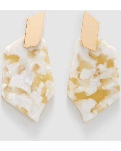 Серьги золотого цвета Mango
