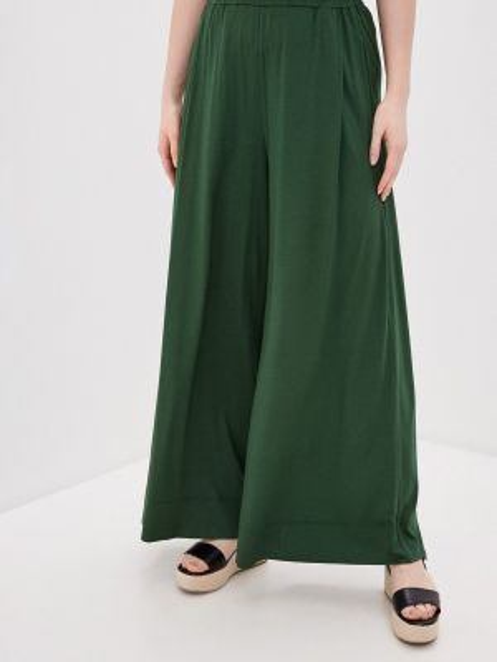 Зеленые расклешенные свободные брюки W&b