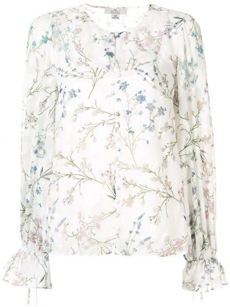 Блузка с длинным рукавом с цветочным принтом белая We Are Kindred
