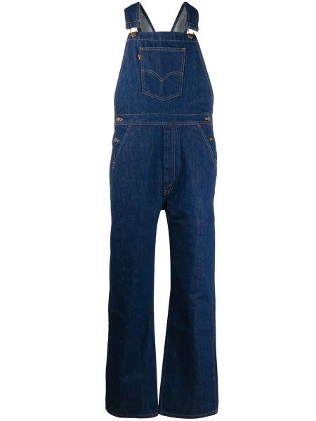 Синий прямой джинсовый костюм винтажный с карманами Levi's Vintage Clothing