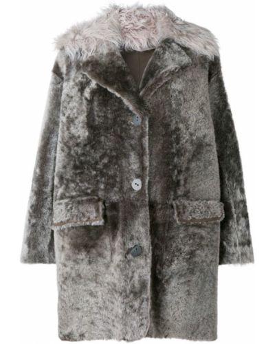Серое пальто на пуговицах Sylvie Schimmel