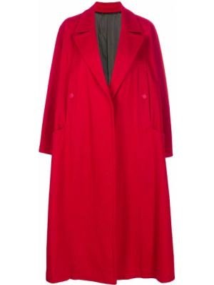 Шерстяное пальто классическое оверсайз с капюшоном Yohji Yamamoto Pre-owned