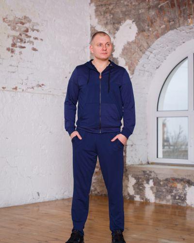 Костюмный синий спортивный костюм Idiali
